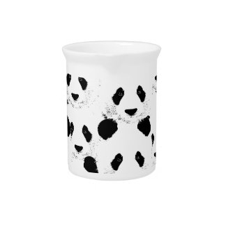 Het patroon van de panda bier pitcher