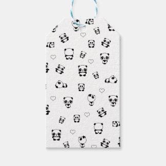 Het patroon van de panda cadeaulabel