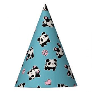 Het patroon van de panda feesthoedjes
