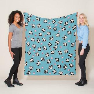 Het patroon van de panda fleece deken