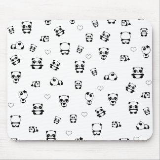 Het patroon van de panda muismatten