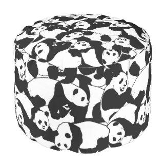 Het patroon van de panda poef
