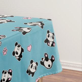 Het patroon van de panda tafelkleed