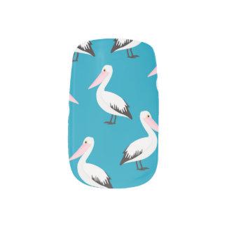 Het patroon van de pelikaan minx nail folie