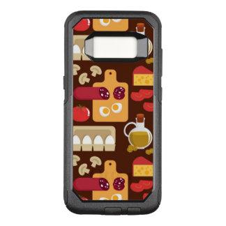 Het Patroon van de pizza OtterBox Commuter Samsung Galaxy S8 Hoesje