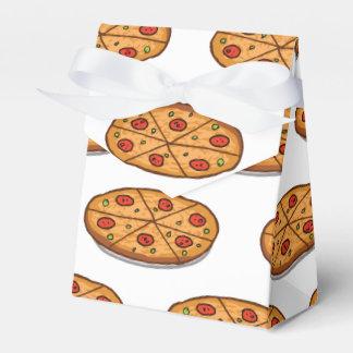 Het Patroon van de Pizza van pepperonis; Italiaans Bedankdoosjes