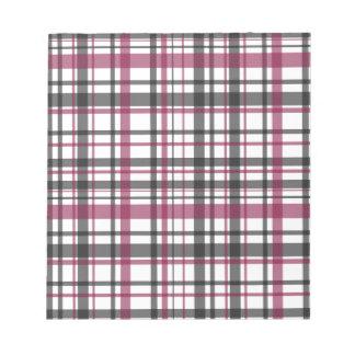 Het patroon van de plaid notitieblok