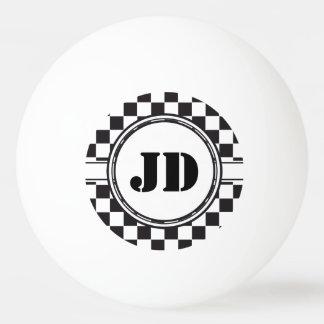 Het Patroon van de raceauto + uw backgr. kleur & Pingpongbal