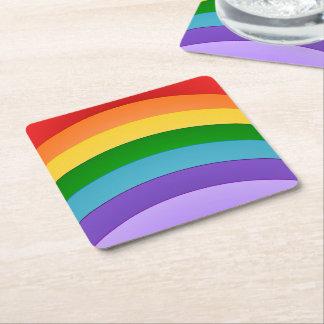 Het Patroon van de regenboog Vierkante Onderzetter