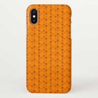 Het patroon van de schedel in oranje kleuren