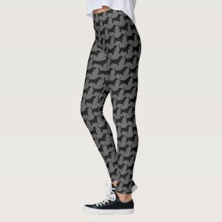 Het Patroon van de Silhouetten van Basset Hound Leggings