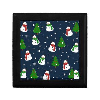 Het patroon van de sneeuwman decoratiedoosje