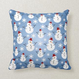 Het Patroon van de Sneeuwman van Kerstmis Sierkussen