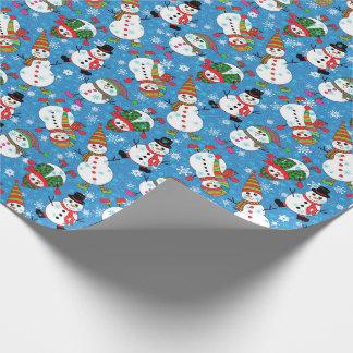 Het Patroon van de Sneeuwman van Whimsy van de Cadeaupapier