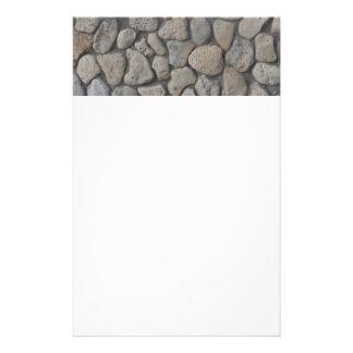 Het patroon van de steen briefpapier papier