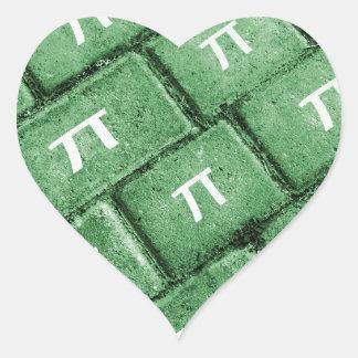 Het Patroon van de Stijl van pi Grunge Hartvormige Sticker