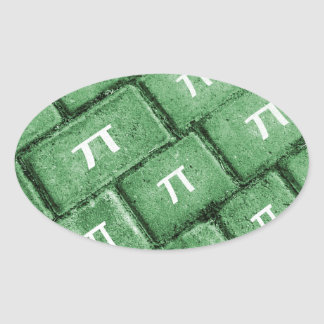 Het Patroon van de Stijl van pi Grunge Ovale Sticker