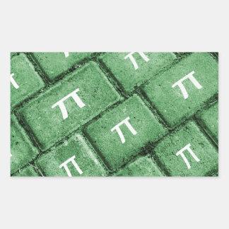 Het Patroon van de Stijl van pi Grunge Rechthoekvormige Sticker