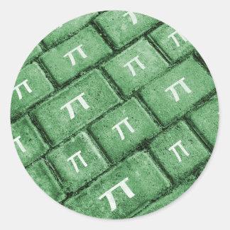 Het Patroon van de Stijl van pi Grunge Ronde Sticker