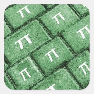 Het Patroon van de Stijl van pi Grunge Vierkant Stickers