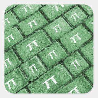 Het Patroon van de Stijl van pi Grunge Vierkante Sticker