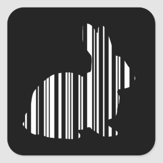 Het Patroon van de Streepjescode van de Hazen van Vierkante Sticker