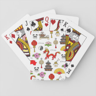 Het Patroon van de Symbolen van China Speelkaarten