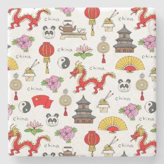 Het Patroon van de Symbolen van China Stenen Onderzetter