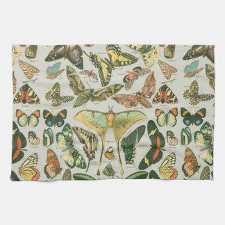 Het patroon van de vlinder theedoek