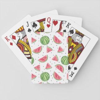 Het Patroon van de Watermeloenen van de Waterverf Speelkaarten