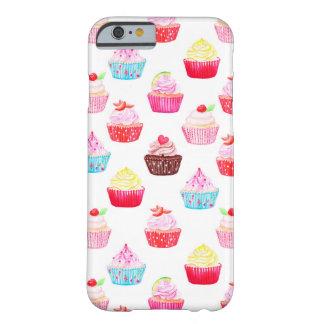Het patroon van de waterverf cupcakes barely there iPhone 6 hoesje
