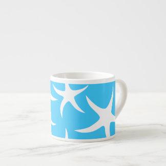 Het Patroon van de zeester, Heldere Turkooise Blau Espresso Kop