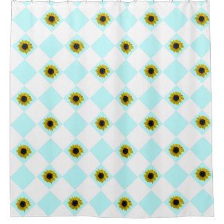Het Patroon van de zonnebloem Douchegordijn