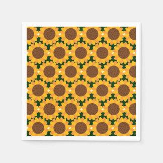 Het Patroon van de Zonnebloem van de herfst Papieren Servet