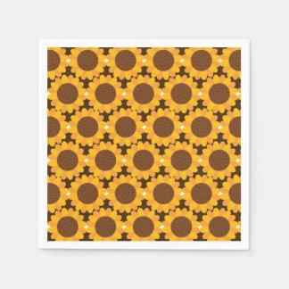 Het Patroon van de Zonnebloem van de herfst Papieren Servetten