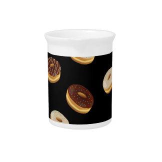 Het patroon van Donuts Drank Pitcher