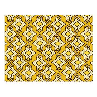Het Patroon van het Behang van het art deco, het Briefkaart