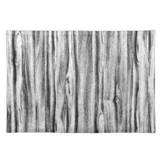 Het patroon van het drijfhout - zwarte, wit en placemat