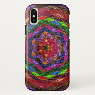 Het Patroon van het gebrandschilderd glas iPhone X Hoesje