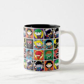 Het Patroon van het Karakter van de Liga van de Tweekleurige Koffiemok