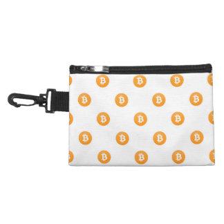 Het Patroon van het Logo van Bitcoin Accessoire Tasje