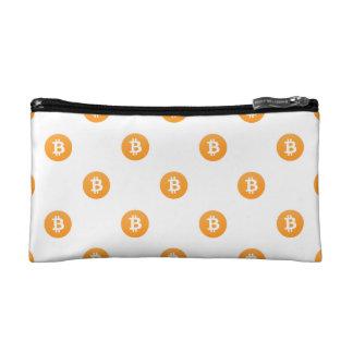 Het Patroon van het Logo van Bitcoin Make-up Bag