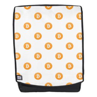 Het Patroon van het Logo van Bitcoin Rugtassen