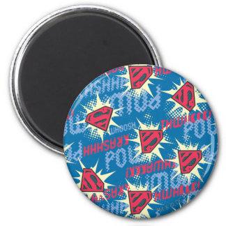 Het Patroon van het Logo van de superman Ronde Magneet 5,7 Cm
