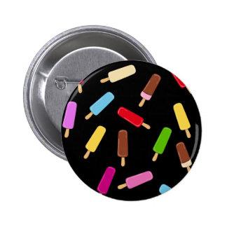 Het patroon van het roomijs ronde button 5,7 cm