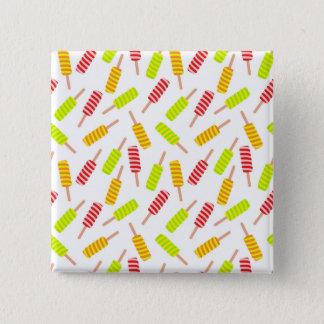 Het patroon van het roomijs vierkante button 5,1 cm