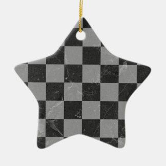 Het patroon van het schaak keramisch ster ornament