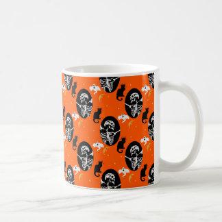 Het Patroon van het Skelet van Halloween Koffiemok