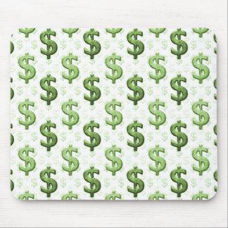 Het Patroon van het Teken van de dollar Muismat