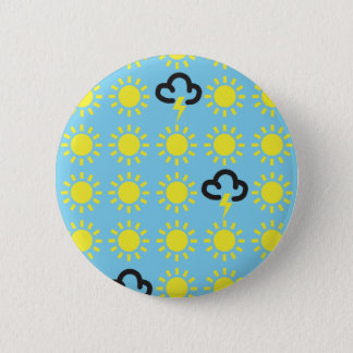 Het patroon van het weer: Retro Ronde Button 5,7 Cm